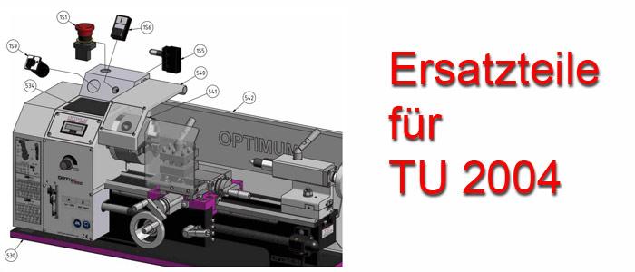 Optimum Drehmaschinen TU-2004 Ersatzteile