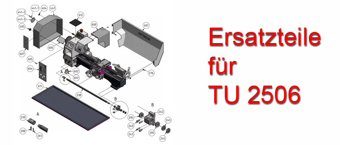 Optimum Drehmaschinen TU-2506 Ersatzteile