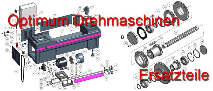 Optimum Fräsmaschinen Ersatzteile
