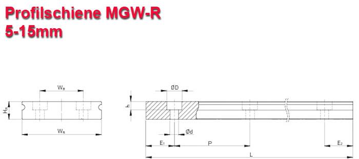 Linearschiene für MGW
