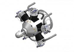 5-Zylinder-Sternmotor