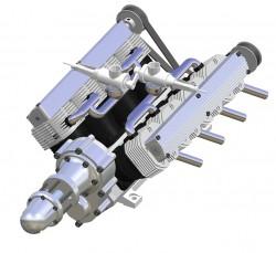 8 Zylinder V Motor mit Getriebe