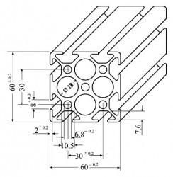 Aluminium Profil 60 x 60 x 100