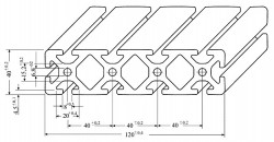 Aluminium Profil 40 x 160 x 100