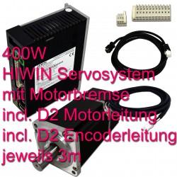 Hiwin Servosystem 400W mit Motorbremse