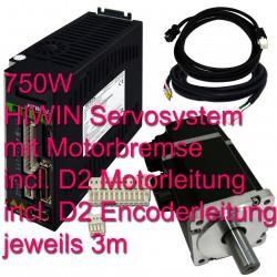 Hiwin Servosystem 750W mit Motorbremse