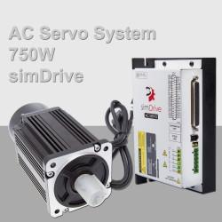 simDrive AC Servo System 750W Set