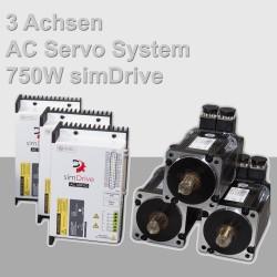 simDrive 3-Achsen AC Servo System 750W Set